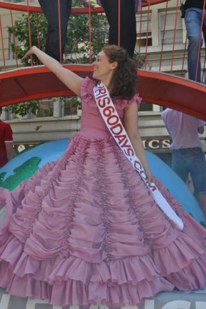 A princess for a day, Iris, floats down Market Street in San Francisco's LGBT Pride Parade. (Photo: Courtesy of Iris Mansour)