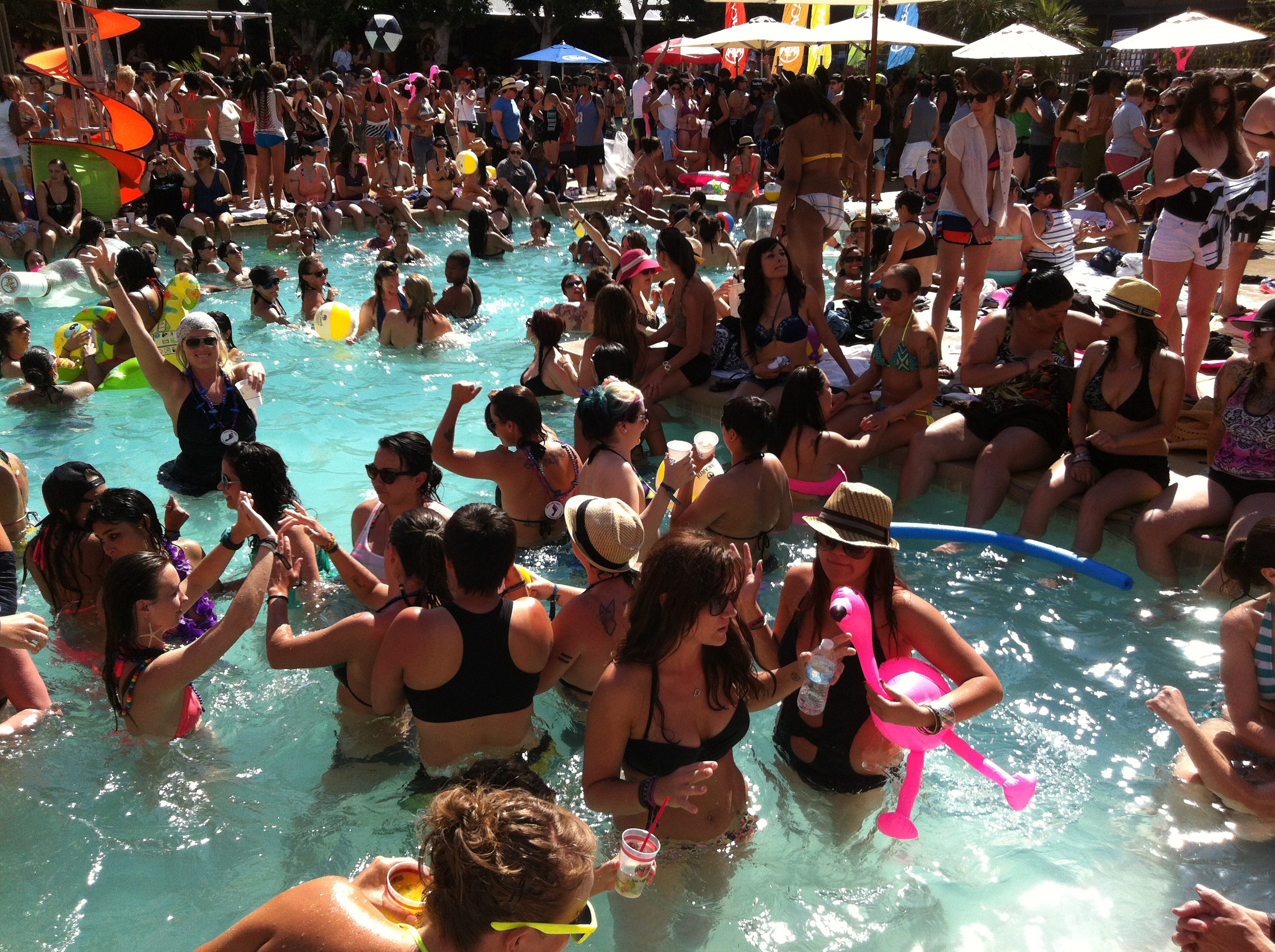One of The Dinah's famed pool parties (Photo: Courtesy of The Dinah)