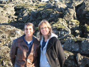 Damron publisher and owner Gina Gatta, left, with business and life partner, Erika O'Conner, right, enjoying Iceland. (Photo: Courtesy of Damron)
