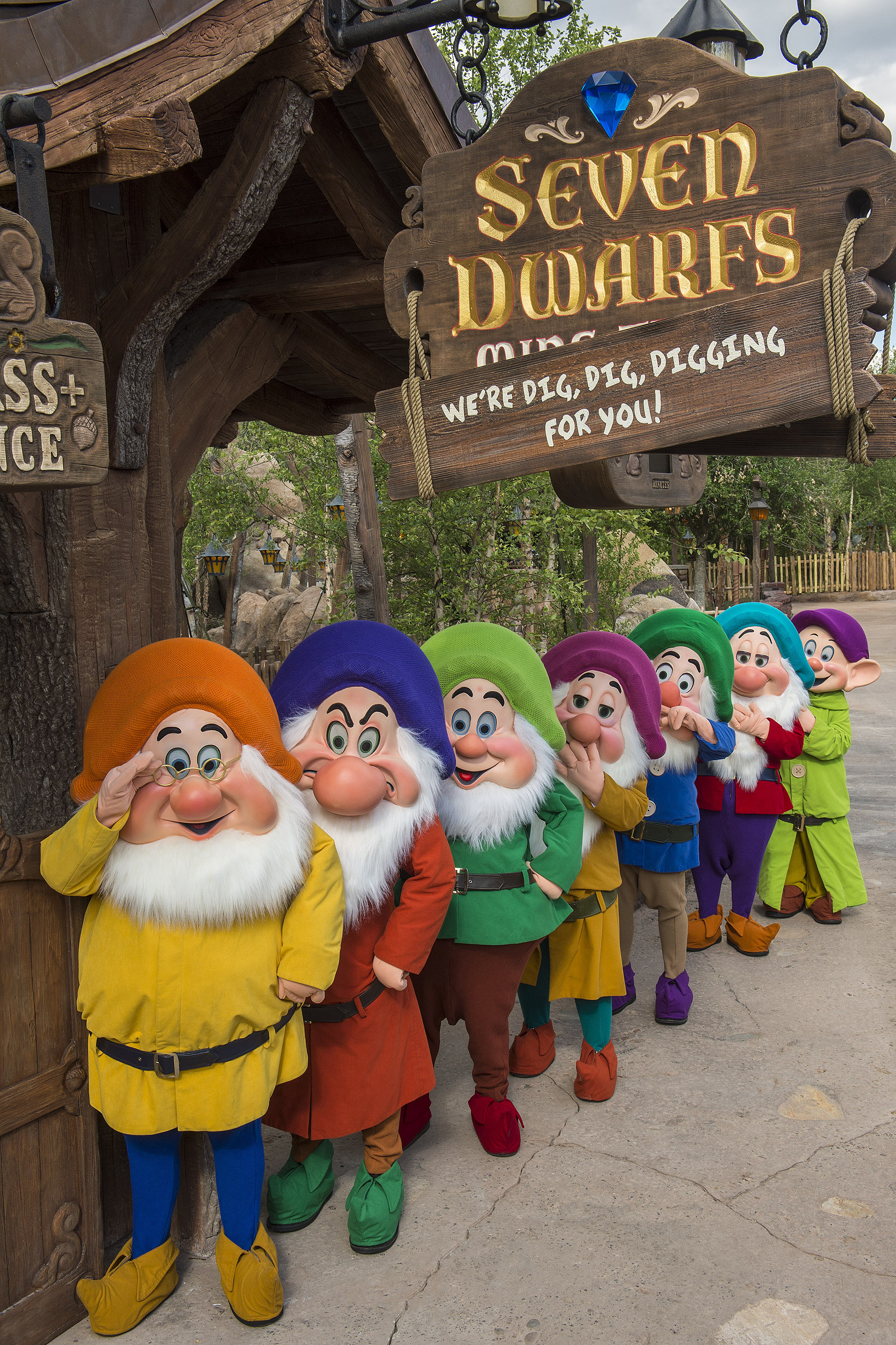 Be one of the first this summer to experience the Seven Dwarfs Mine Train, a twisting, glittering ride through the Snow White story. (Photo: Courtesy of Disney World)
