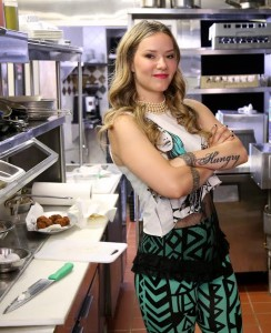 Nadia G on the road in the Cooking Channel's latest show 'Bite This' airing Monday, July 14 at 10 p.m. (Photo: Courtesy of the Cooking Channel)