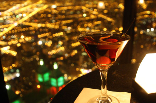Enjoy a cocktail at The Signature Lounge atop the John Hancock Center in Chicago.