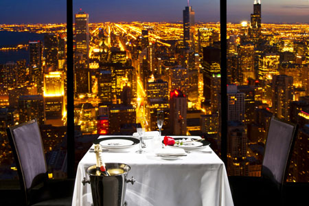 The Signature Lounge Gives A Stylish View Of Chicago