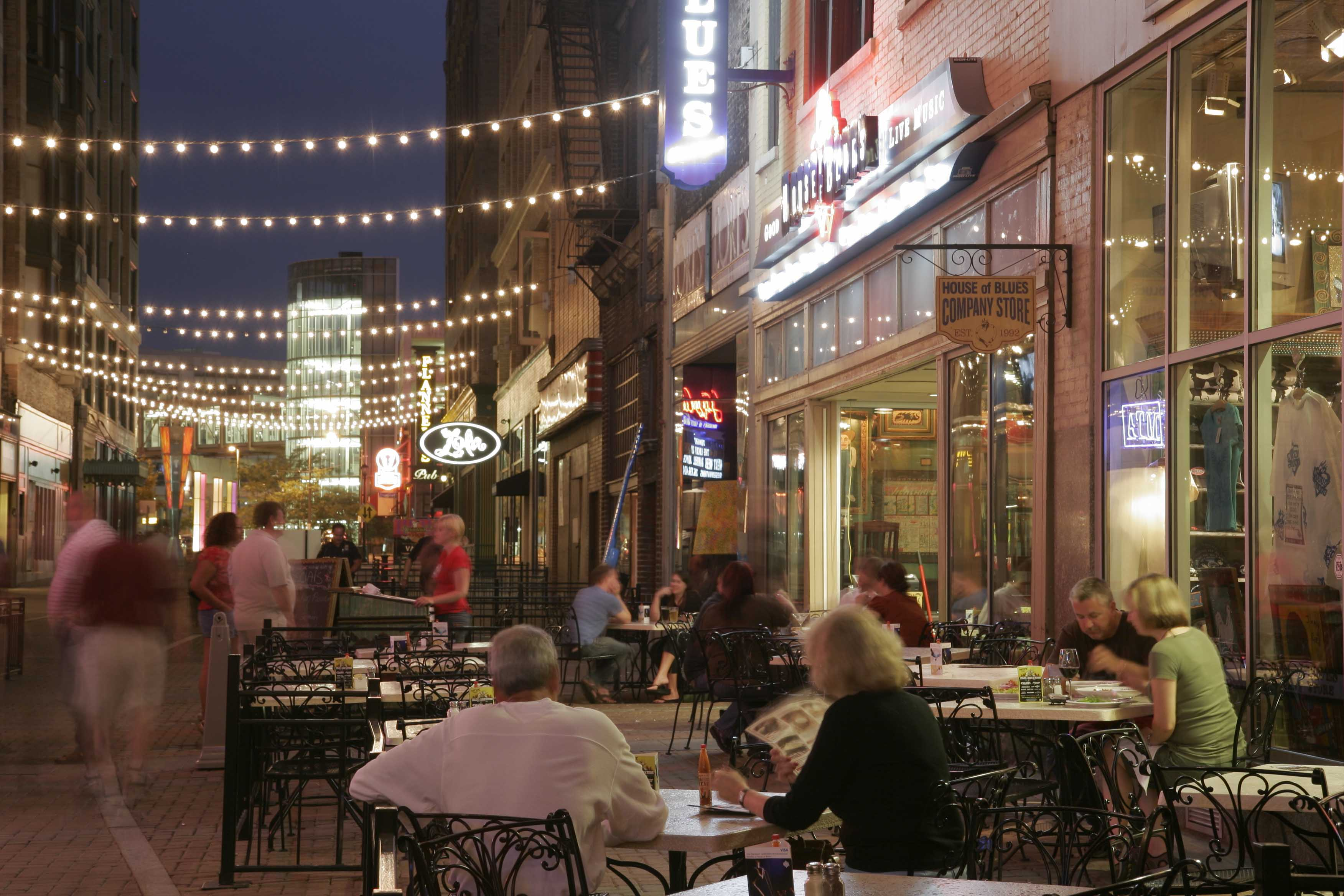 Cleveland's popular restaurant row East 4th Street (Photo: Jeff Greenberg)