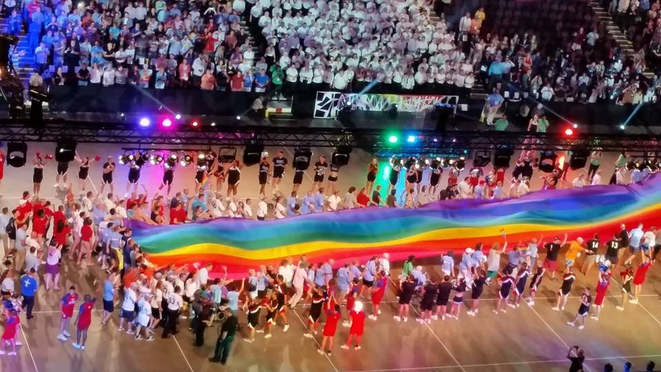 Opening ceremonies of the Gay Games 9 at the Quicken Loans Arena in Cleveland, Ohio. (Photo: Super G)
