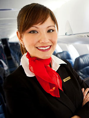 Delta Air Lines flight attendant