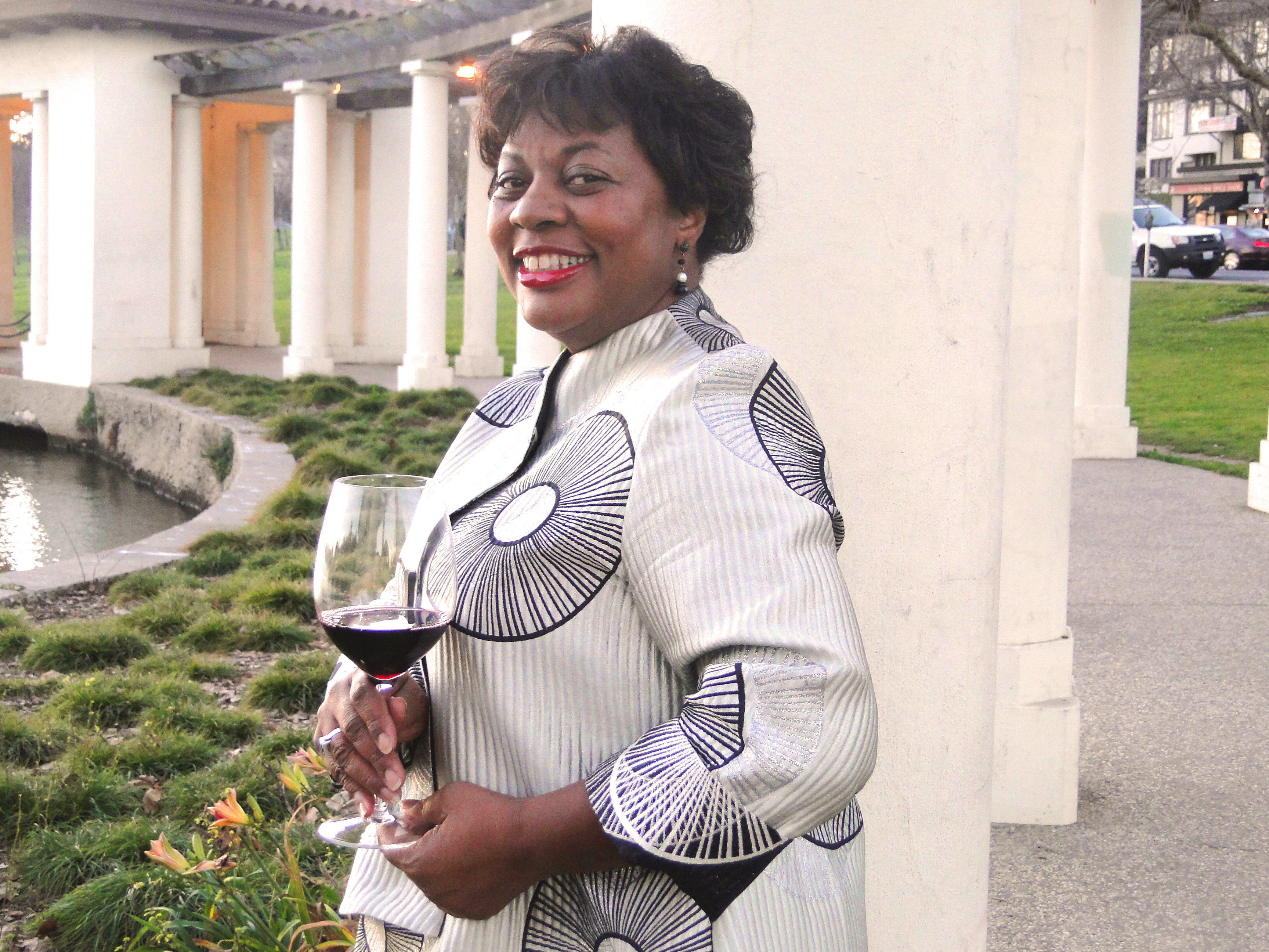 Oakland Wine Festival founder Melody Fuller on location at Lake Merritt (Photo: V. Sheree Publishing, LLC)