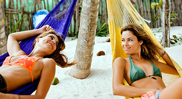 Enjoying a day on the beach in the Caribbean. (Photo: Courtesy of www.deltavacations.com)