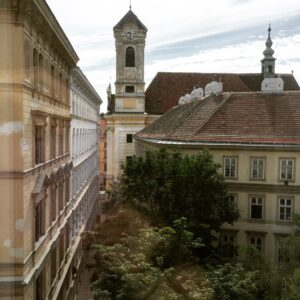 The view of Vienna from Girls That Roam's room at the Altstadt Vienna. (Photo: Super G)