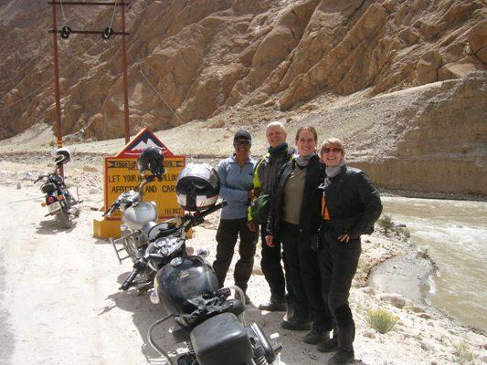 (L to R) Moksha Jetley, owner of Back 'N' Beyond Travels in India; Monica (Germany), Chritiana (Austria), Tina (New Zealand) on the way to Tsomorori Lake in Ladakh. (Photo: Courtesy of Back 'N' Beyond Travels)