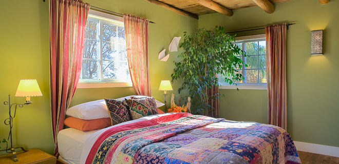 The upstairs bedroom in The Bantam Roost casita at Casa Gallina in Taos, New Mexico.(Photo: Courtesy of Casa Gallina)