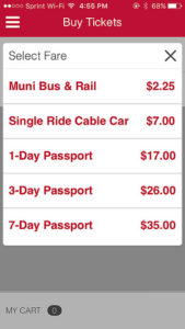 Choose your pass on the new MUNImobil app.