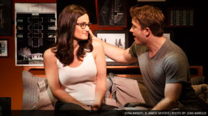 Tony award-winning Idina Menzel, who plays Elizabeth (Beth/Liz), with love interest James Snyder, who plays Josh, in If/Then. (Photo: Joan Marcus)