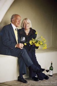 The late Robert Mondavi, who brought Napa's wine region to the world, left, and Margrit Mondavi, right, the signora of wine. (Photo: Didier Ruef)