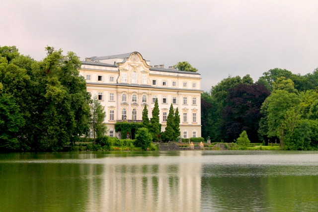 The back of the Palace Leopoldkron which served as the back of the von Trapp house in The Sound of Music. (Photo: Super g)