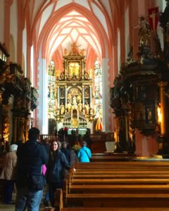Tourist flock to take pictures inside the beautiful St. Michaels Church in Mondsee where Maria married Captain Georg von Trapp in the movie, The Sound of Music. (Photo: Super G)
