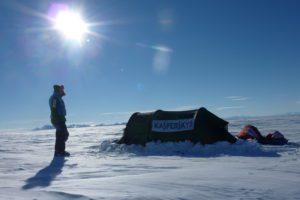 A sunny evening in Antarctica. (Photo: Courtesy of Felicity Aston)