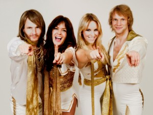 ABBA in 1974, from left to right: Benny Andersson, Anni-Frid Lyngstad (Frida), Agnetha Fältskog, and Björn Ulvaeus (Photo: SoAugusta.org)