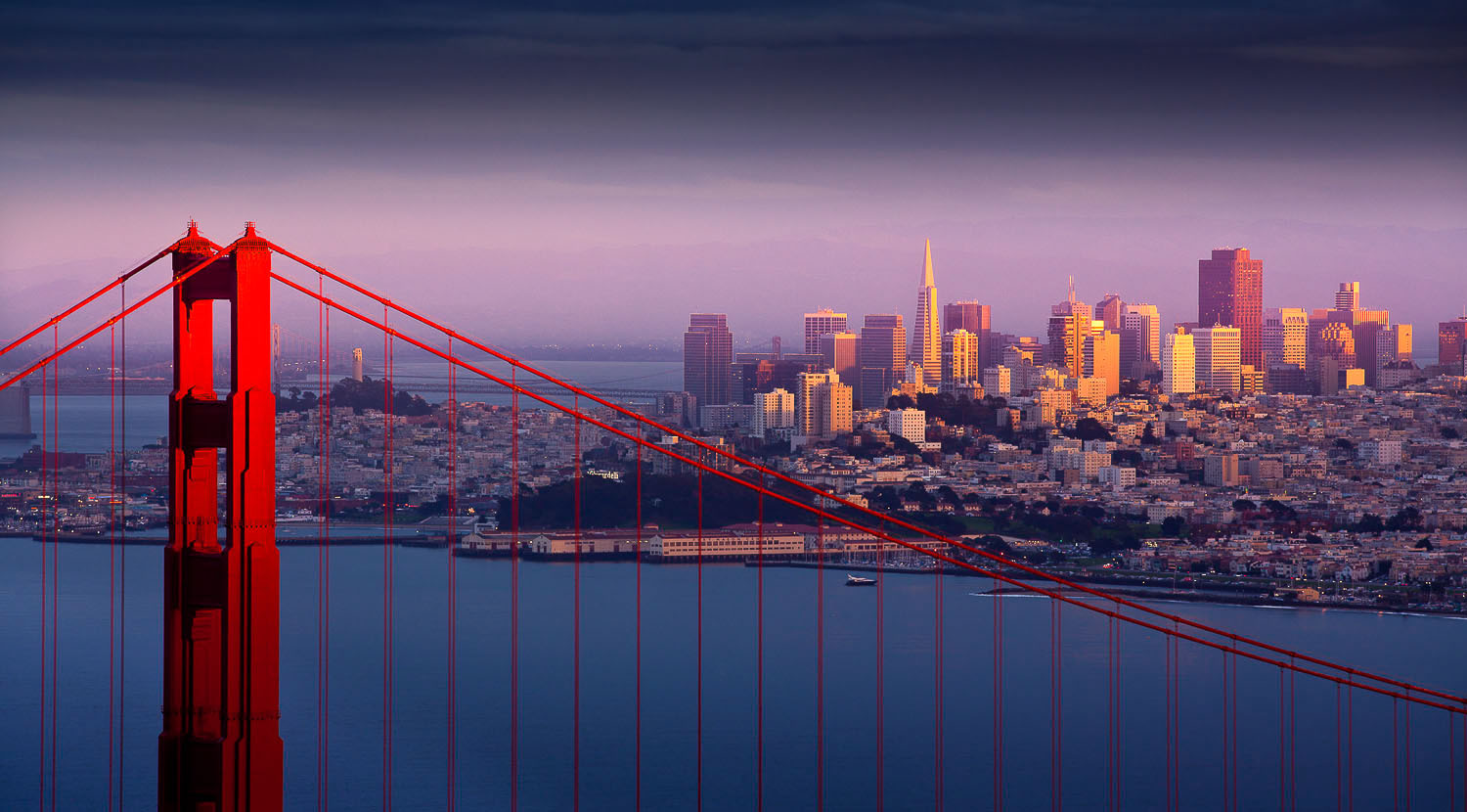 A view of San Francisco from above the Golden Gate Bridge. (Photo: SanFrancisco.travel)