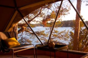 Experience luxury camping at Stockholm Island Lodge in the Stockholm archipelago Bergholmen, Sweden. (Photo: Stephanie Brusig)