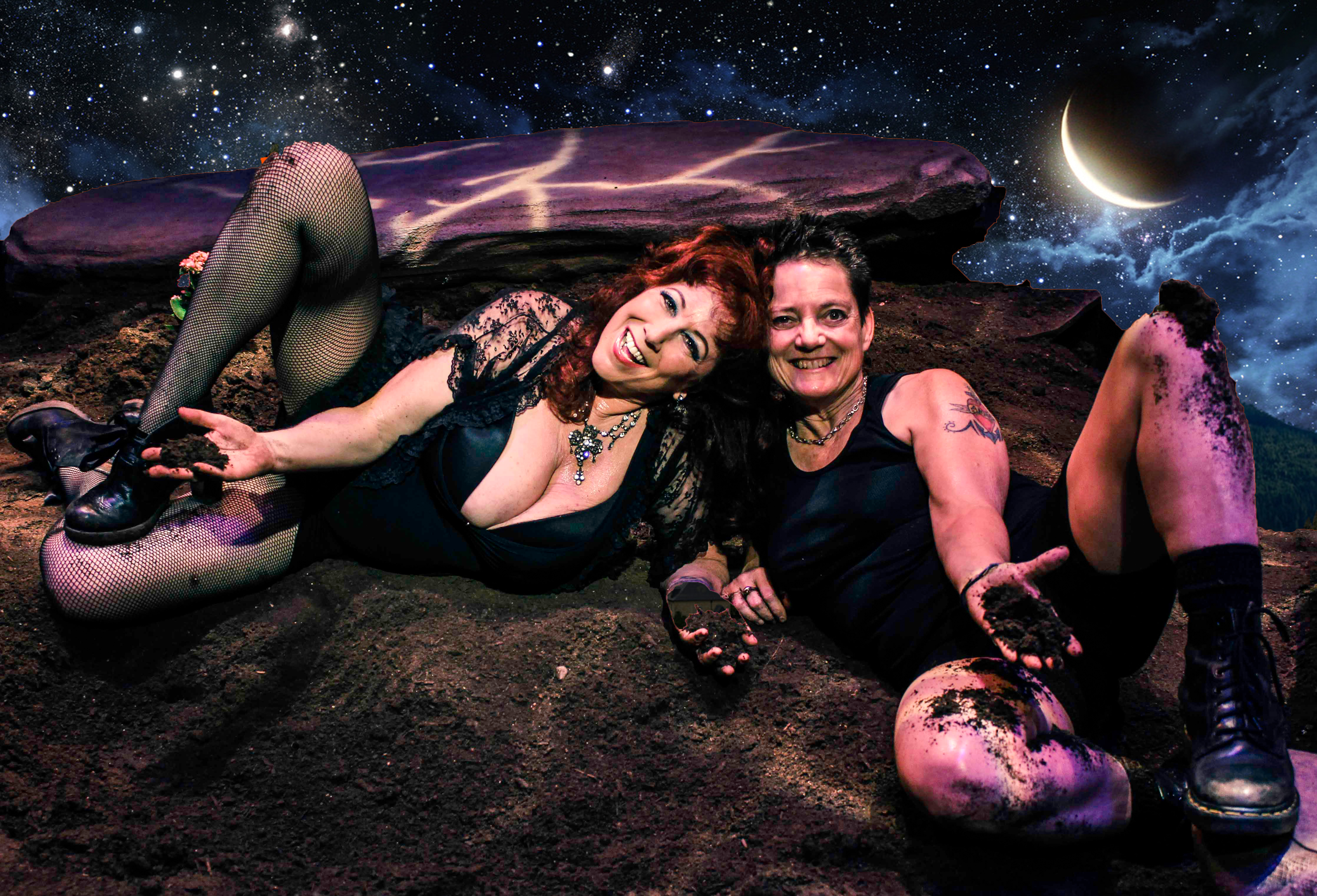 Ecosexuals Annie Sprinkle, left, and Beth Stephens, right, create queer environmental art and film to save the planet. (Photo: Courtesy of Annie Sprinkle and Beth Stephens)