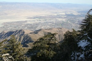 A view of Palm Springs, California 8,500 feet above the desert floor at the famous San Jacinto State Park. (Photo: Super G)