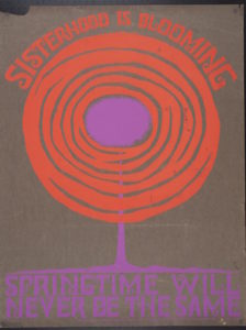 """""""Sisterhood is Blooming"""" from 1972 (Photo: Courtesy of the San Francisco GLBT History Museum)"""