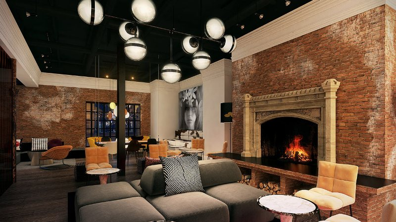 Relax in style in the Hotel Zeppelin's lounge in San Francisco, California. (Photo: Courtesy of Hotel Zeppelin)