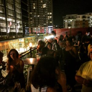 A night out on the town at Hangar Lounge in downtown Austin, Texas. (Photo: Super G)