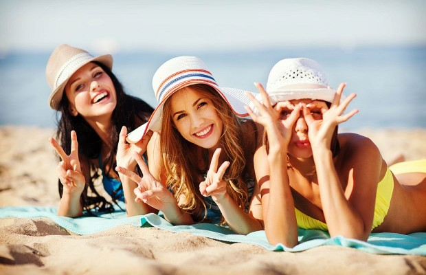 Women vacationing on the beach. (Photo: Courtesy of q108.com)