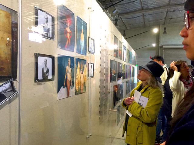 "The ""Women: New Portraits"" exhibit attracts 100s of fans of Annie Leibovitz's work at Crissy Field in the Presidio. (Photo: Heather Cassell)"