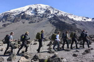 French women soldiers and a victim of war scale Mount Kilimanjaro in Tanzania. (Photo: Courtesy of Aurore Fintz)