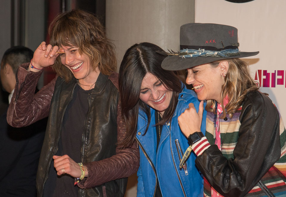X Names DJs Kate Moennig and Camila Grey with celebrity DJ Samantha Ronson on the red carpet at The Dinah 2016. (Photo: Girls That Roam / Pipi Diamond)