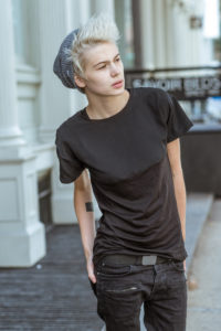 Androgynous model turn musician Madison Paige (Photo: Courtesy of The Dinah)