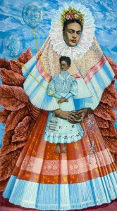 Shirley Gorelick: Frida Kahlo, 1976 Acrylic on canvas108 x 60 in. Rowan University Art Gallery, Gift of Jamie S. Gorelick(c) Shirley Gorelick Foundation (Photo: Karen Mauch Photography)