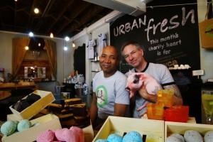 Andre, left, and Keith, right, West-Harrison, owners of Urban Fresh Cosmetics and Day Spa in Albuquerque, New Mexico. (Photo: Courtesy of Urban Fresh)