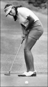 Brenda Rego won almost every women's golf tournament on O'ahu, including the Moanalua Women's Invitational in 1973. (Photo: Honolulu Advertiser Library Photo / June 17, 1973)