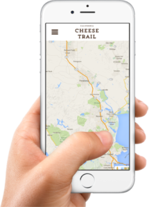 The California Cheese Trail app (Photo: Courtesy of California Cheese Trail)