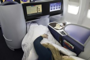 Delta One, first class flying on Delta Air Lines. (Photo: Courtesy of Delta Air Lines )