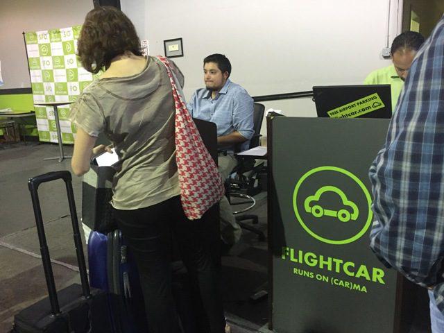 Checking out at FlightCar in San Bruno, California. (Photo: Super G)