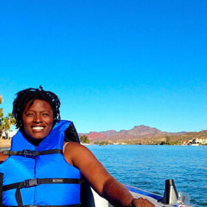 The Nomadic Mama herself Christina Benton floating down the Colorado River. (Photo: Courtesy of Nomadic Mama of 3)