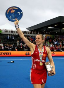 Kate Richardson-Walsh, a defender and the most capped British hockey player for Great Britain. (Photo: Manchester Evening News)