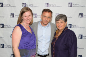 (left to right) Amy Everitt, executive director of NARAL Pro-Choice California; David Eigenberg, and Nancy Keenan (Photo: Lee Salem / NARAL Pro-Choice America)