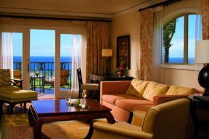 Sit and relax in your own living room in one of the Ritz-Carlton Kapalua's one or two bedroom or residential suites in Maui. (Photo: Courtesy of the Ritz-Carlton Kapalua)
