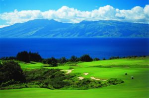 Golf with a view on two world-class golf courses at the Ritz-Carlton Kapalua in Maui. (Photo: Courtesy of the Ritz-Carlton Kapalua)