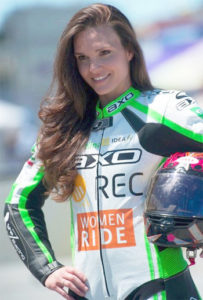 Shelina Moreda, professional roadracer and founder of She'z Moto Camp (Photo: womenfitness.net)