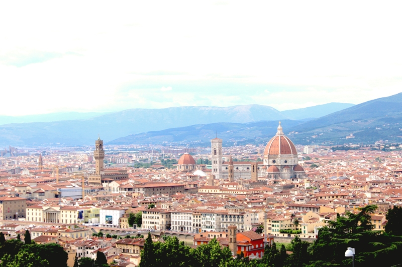 The view of Florence from San Mineato al Monte. (Photo: Nicole Clausing)