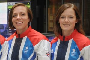 Filed hockey players Kate, left, and Helen, right, Richardson-Walsh, are the first-ever wife team competing for Olympic gold in Rio. (Photo: Ady Kerry)