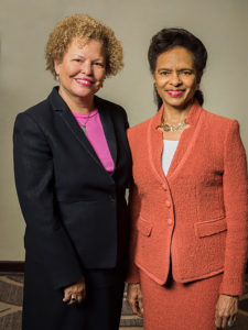 Debra Lee, left, and Mary Bush, right, board directors at Marriott International, Inc. (Photo: Courtesy of Marriott International, Inc.)