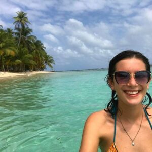 Catherine Johannet's last Instagram post at Red Frog Beach on Bastimentos Island, Panama. (Photo: Courtesy of Instagram)